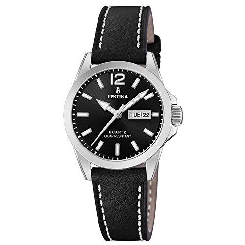 Festina Damen Analog Quarz Uhr mit Leder Armband F20456/4