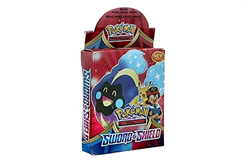 PRIMIL Poke-Moon Cards Game Sword & Shield Edition Poke-Mon Cards for All Ages.