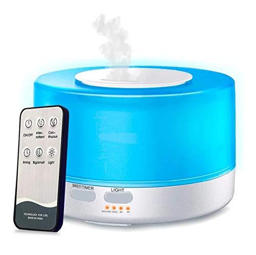 Aromatizador Difusor Aroma Elétrico Led 7 Rgb Controle 500ml Aromaterapia Cromoterapia Bivolt