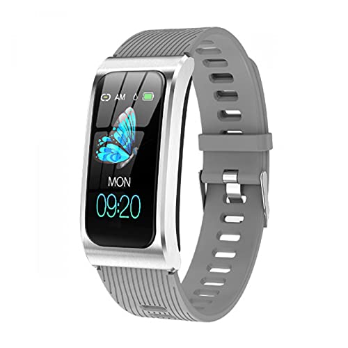 HYK Pulsera Inteligente Ejercicio de frecuencia cardíaca para Hombres y Mujeres con rastreador de Ejercicios de presión Arterial Reloj Inteligente a Prueba de Agua, Adecuado para Android iOS(G)