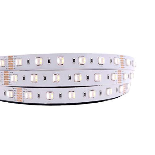 Preisvergleich Produktbild iluminize LED-Streifen 5in1 RGB+CCT: hochwertiger LED-Streifen RGB+CCT (2300K + 6500K) mit 60 LEDs pro Meter,  hoch selektiert,  24V,  20W pro Meter (IP65 NANO Rolle 5m)