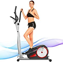 ANCHEER Elliptical Machine, Magnetic Elliptical Exercise Training Machine with LCD Monitor, Quiet and Smooth Move,Top Levels Elliptical Machine Trainer for Home Gym Office Workout