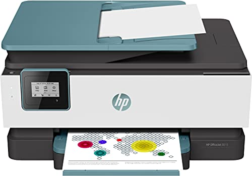 HP OfficeJet 8015 4KJ69B, Impresora Multifunción Tinta, Color, Imprime, Escanea, Copia, Wi-Fi, HP Smart App, Apple AirPrint, Incluye 2 Meses del Servicio Instant Ink, Verde Oasis