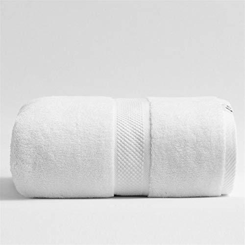 Zyuan 80 * 160 Cm 800g Toallas De Baño De Algodón Espesado De Lujo para Adultos Baño De La Toalla De Playa Baño Extra Grande Sauna para Hogar Hoja Hojas Toallas ShanDD (Color : White)