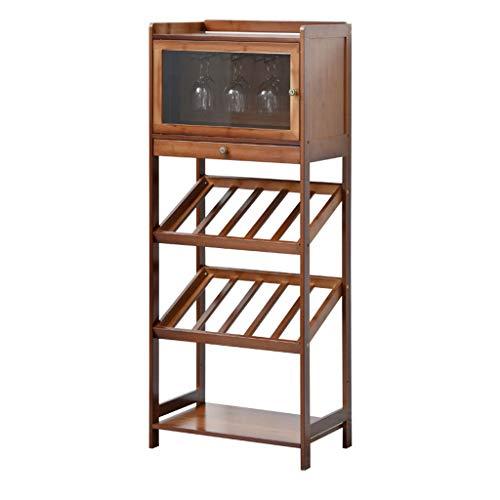 Almacenamiento de botellas de vino Armario bodega de almacenamiento de titular soporte estantes de gran capacidad soporte de almacenamiento for Barra vertical en el suelo Vino Gabinete de almacenamien