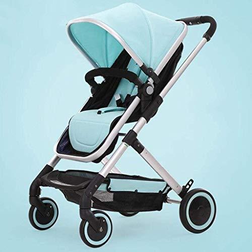 Best Bargain GPWDSN Folding Stroller, Baby Carriage High Landscape Can Sit Horizontal Portable Foldi...