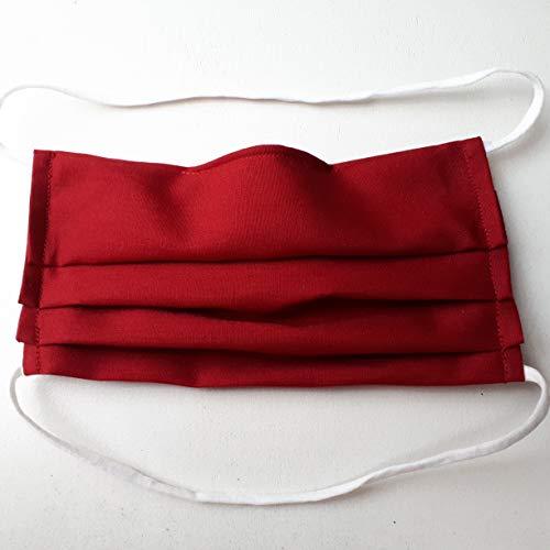 Friedburg-Kissen Mund- und Nasen-Maske mit Nasenbügel 100% Baumwolle dünn Gummiband für den Hinterkopf