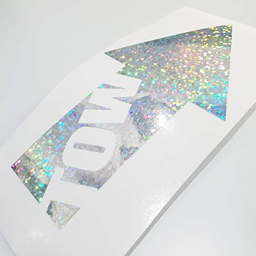 foliezentrum 1 x Tow Flip Flop hologram zilver 331 Oilslick Rainbow Stickers Metallic Effect Shocker Auto JDM Tuning OEM Dub Decal Sticker Illest Dapper Oldschool