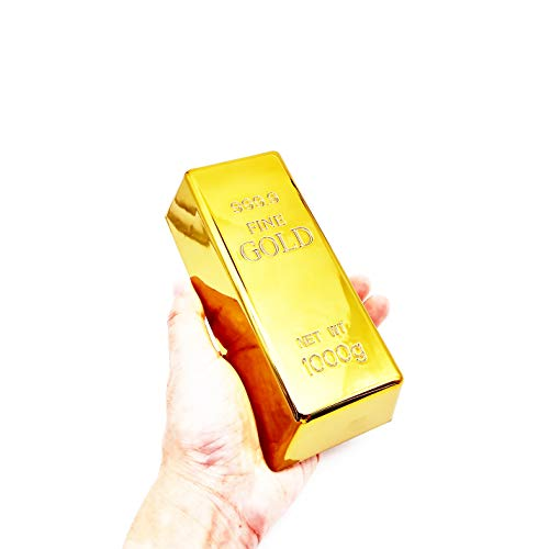 SABLUE Replica Gold Bar Fake Golden Brick Bullion Movie Prop Novelty Gift Joke (S)
