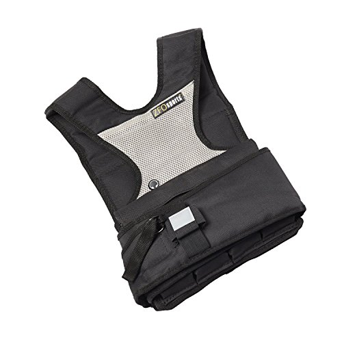 ZFOsports 30LBS Womens Adjustable Weighted Vest with Phone Pocket & Water Bottle Holder.
