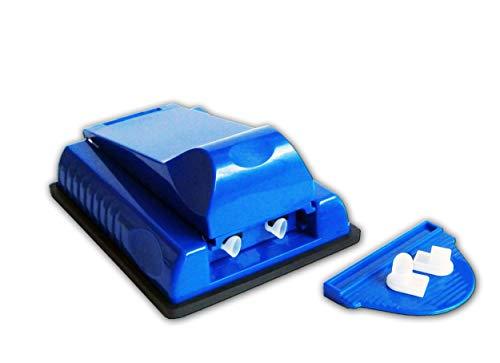Eco 2er ZIGARETTENSTOPFMASCHINE Zigarettenstopfer Stopfmaschine Zigaretten 4-VAR. 76 (Blau)