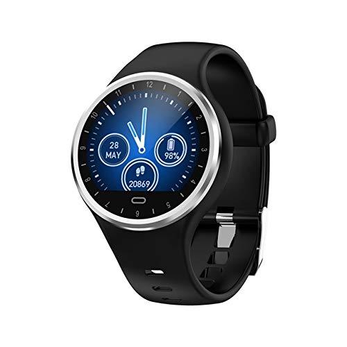 Smart Band Männer Armband Fitness Tracker Herzfrequenz-Blutdruckmessgerät Sportuhr wasserdichte Armbanduhr,Schwarz