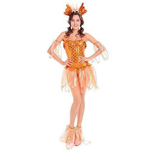 Disfraz de Halloween para Mujer, Traje Adulto, pez Dorado, Cosplay, Ve