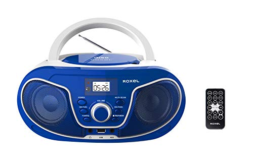 Roxel RCD-S70BT Portable Boombox CD Player with Bluetooth,...