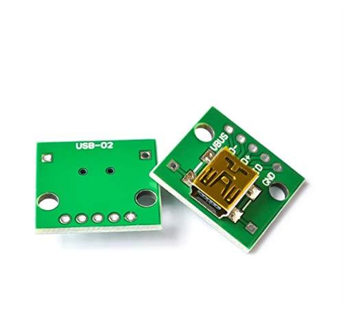 relais Connecteur d'homme USB / Mini micro micro USB à DIP Adaptateur 2.54mm 5pin Connecteur femelle B Type USB2.0 Convertisseur PCB Femme USB-01 10pcs commutateur de relais wifi ( Color : USB 02 )