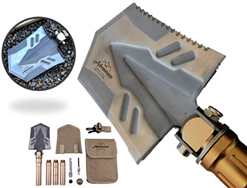 Outdoor Survival And Emergency Shovel with Multitool By The Adventure Supply Co. Brands