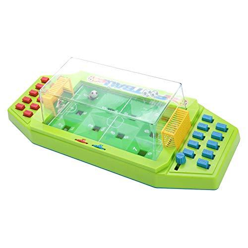 Oyunngs Interaktives Desktop-Fußballspielzeug, 2-Spieler-Tischfußballspiele, frühes Lernspielzeug für Kinder Kleinkinder Feinmotorik(Grün)