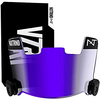 Nxtrnd VZR1 Tinted Football Visor Professional Football Helmet Visor Shield Fits Youth Football Helmets & Adult Football Helmets Includes Visor Clips Decal Pack & Cleaning Cloth  Clear Purple