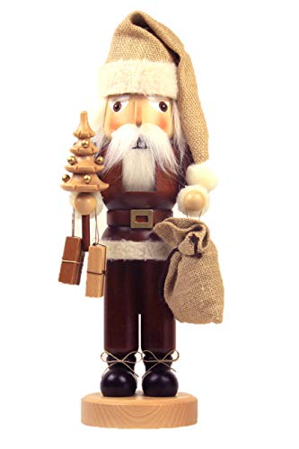 German Christmas Nutcracker Santa Claus natural - 40,5cm / 16 inch - Christian Ulbricht