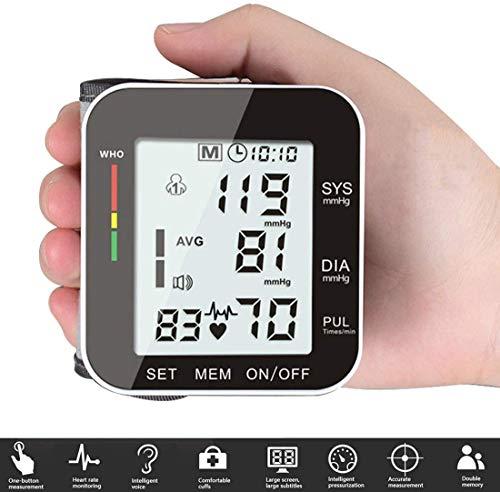 Rabbitstorm Monitor de Presión, Función de Transmisión Automática de Voz Completa, Pantalla Grande de Alta Definición con Subtítulos Claros. Diseño de Usuario Dual, Memoria de Separación de Datos