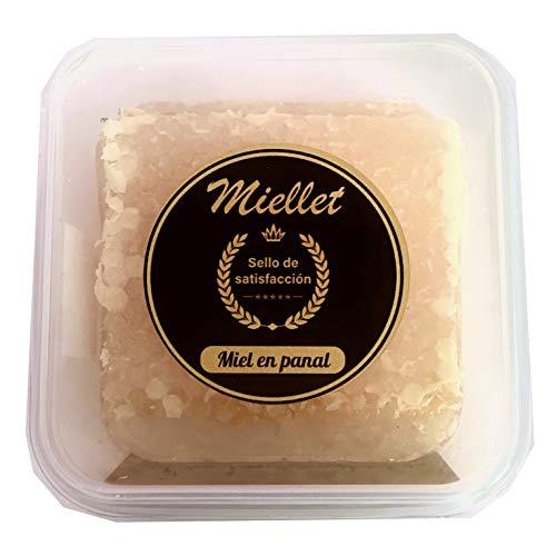 Miellet - Panal de miel de romero 250 gr aprox. de origen español. Producto gourmet artesano. Suaviza la garganta y contiene propiedades antisépticas.