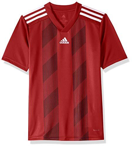 adidas Juniors' Striped 19 Soccer Jersey, Power Red/White, Medium