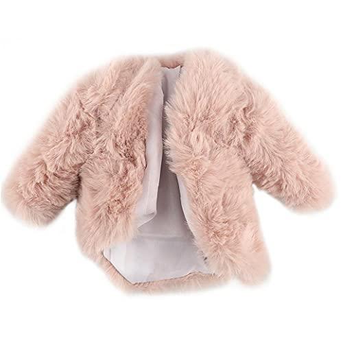 NiceJoy Abrigo de Moda Capa de Peluche Capuchillo Cortes Casual Ropa Traje Accesorios de Juguete para Muñeca Barbie 29cm Pink