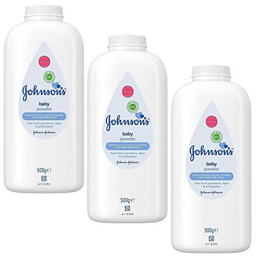 Johnson's Baby Powder - Johnsons Poudre pour Bébé 500g - Lot de 3