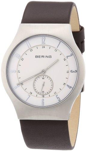 BERING Herren-Armbanduhr Analog Quarz Leder 51940-570