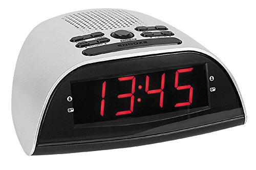 Atlanta 90119 Radiowekker, wekkerradio met grote LED-licht-indicator