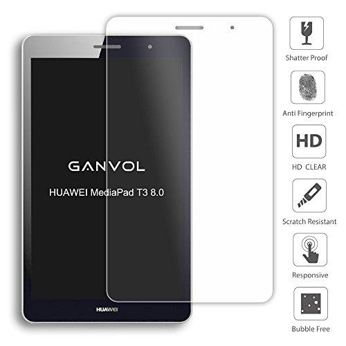 Ganvol Panzerglas für Huawei MediaPad T3 8 WiFi 20,3 cm (8,0 Zoll) Schutzfolie Huawei MediaPad T3 8 LTE 20,3 cm (8,0 Zoll) Panzerfolie Hartglas Glasfolie Glas Folie Panzerglasfolie - 2