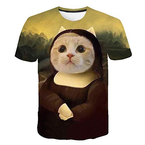 Camisa Casual de algodón con Cuello Alto para Hombre Camisa de Manga Corta Ajustada para niñosTamaño de Calle impreso-2766_XXL