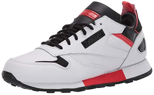 Reebok Boys' Classic Leather Ree:DUX Sneaker, White/Black/Radiant Red, 5 M US Big Kid