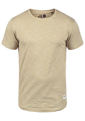 !Solid Figos Camiseta Básica De Manga Corta T-Shirt para Hombre con Cuello Redondo De 100% algodón, tamaño:L, Color:Sand (4073)