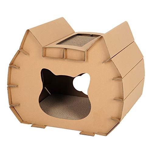 BCCDP Rascador para Gatos de Cartón Reciclar el Rascador Corrugado Cartón Rascador y Soporte de Descanso Soporte de Descanso y Rascador para Gatos Cartón Cama Rascador Cartón Mat