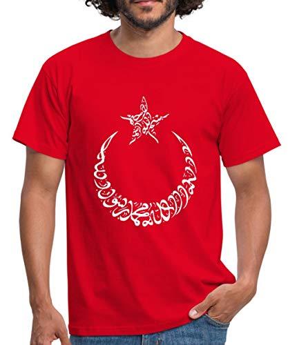 Türk Ay Yildiz Arabic Männer T-Shirt, L, Rot