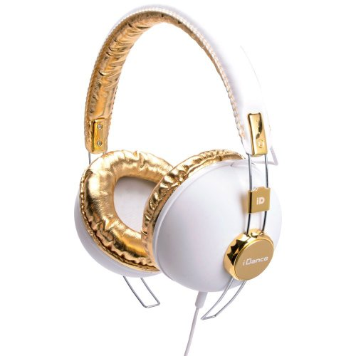 iDance Hipster 703 DJ koptelefoon wit/goud