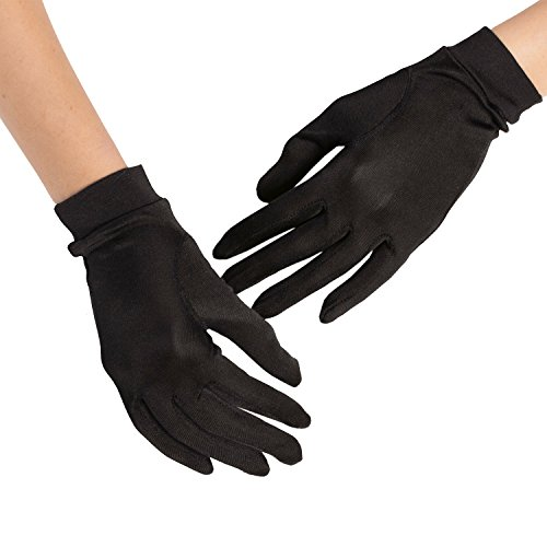Silky Affection - Women's Short Mulberry Silk Gloves | Sun and Cold Protection, Versatile – for Driving, Fashion or as Liners