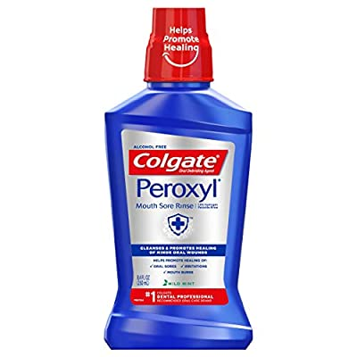Colgate Peroxyl Mouth Sore Rinse, Mild Mint - 16.9 fluid Ounce
