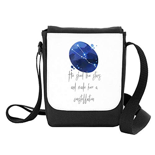 Zodiac Star Sign Taurus He Shed The Stars and Made Her A Constellation Shoulder Bag - Small