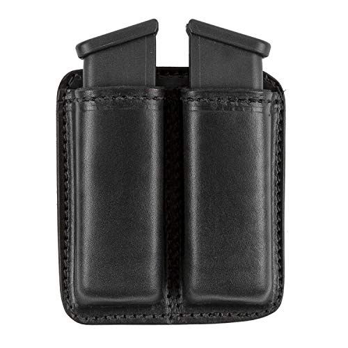 Relentless Tactical Leather Double Magazine Holder | Made in USA | Sizes to fit virtually Any 9mm.40 or .45 Caliber Pistol Mag | Single or Double Stack | IWB or OWB Mag Pouch