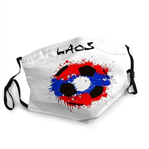 Herbruikbare gezicht schild mond Abstract voetbal Laos vlag