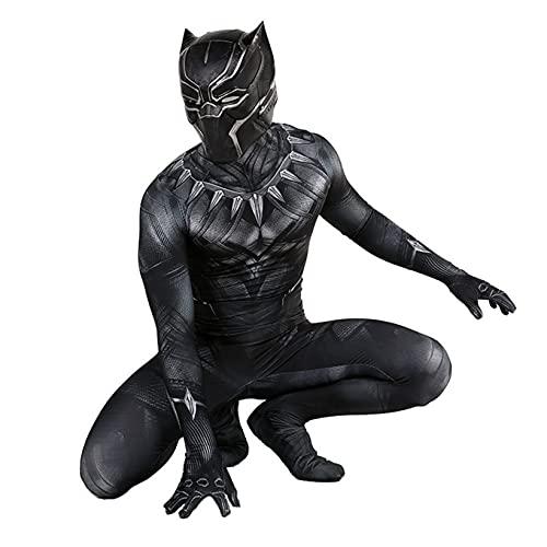 ZYZQ Black Panther Fancy Vestido Disfraz Los Avengers Superhéroe Cosplay Body Jumpsuit Halloween Movie Theme Party Performance Props Unisex Adultos Niños,Black-Men~L(165~170cm)