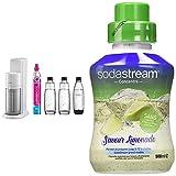 sodastream pack machine à eau pétillante et soda 2 en 1 duo concentré saveur limonade – sans