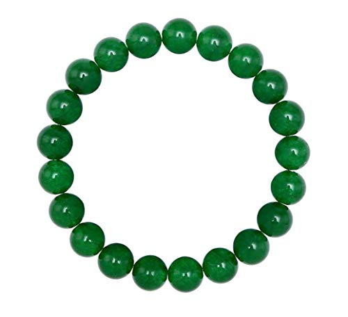 Natural Green Jade Gemstone Beaded Bracelet 7.5 inch Stretch Bracelet Chakra Gems Stones Healing Crystal Energy Quartz Rocks GB8-B54