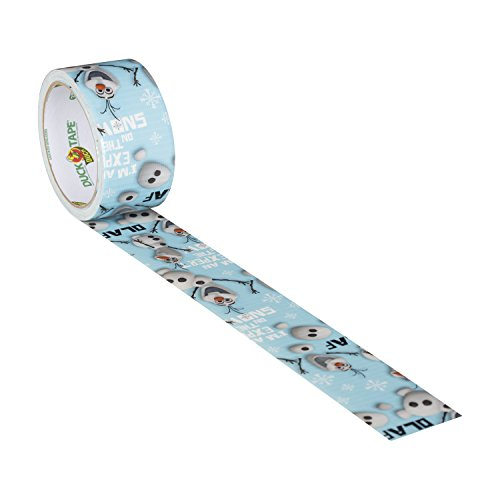 Duck Brand 283422 Disney-Licensed Frozen featuring Olaf Duct Tape, 1.88 Inches x 10 Yards, Single Roll