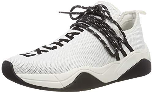 A|X Armani Exchange Baskets lacées pour Femme, Blanc, 35 M EU (4 US)