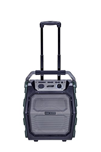 Mac Audio MRS 777 | Outdoor Kompaktanlage Trolley | USB, MP3, FM-Radio Boombox, Soundbox mit Bluetooth, MIC und AUX - Eingang | Karaoke Standlautsprecher mit Verstärker 150 Watt, 12h Akku