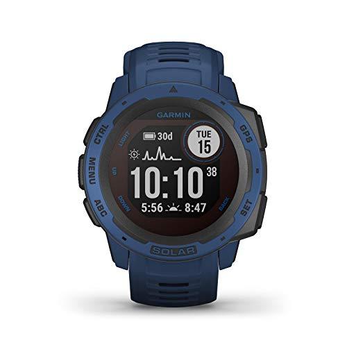 Garmin Instinct Solar, Reloj GPS resistente con carga solar - Azul