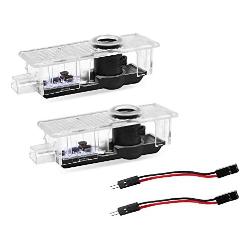 LED Car Door Lights 2 Pack, DEMAI Logo Door Light Projector, Logo Welcome Lights Ghost Shadow Light Compatible with R55 R56 R57 R58 R59 R60 R61 F55 F56 F57 Car Accessories